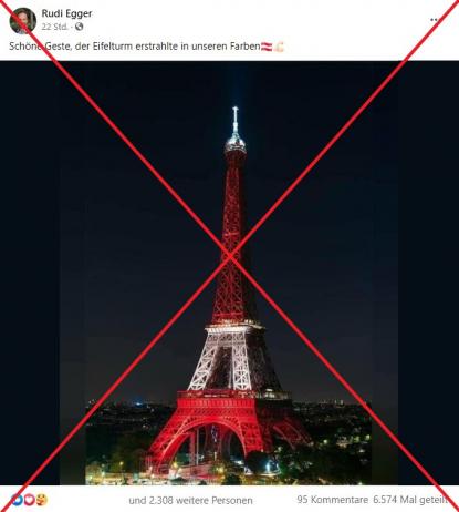 Eiffelturm Anschlag